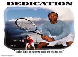 "Tennis ""Dedication"" (No Excuses) Motivational Inspirational Poster - Jaguar Inc."