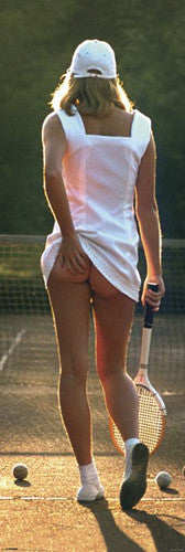 DOOR-SIZED Tennis Girl by Martin Elliott (1976) Poster - Pyramid (UK)
