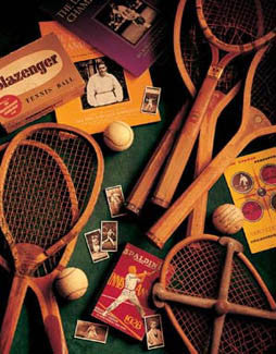 "Vintage Tennis Memorabilia Collage ""Tennis Memories"" Poster Print by Michael Harrison"
