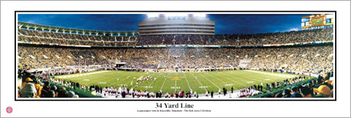 "Tennessee Vols Football ""34 Yard Line"" Neyland Stadium Panoramic Poster Print"