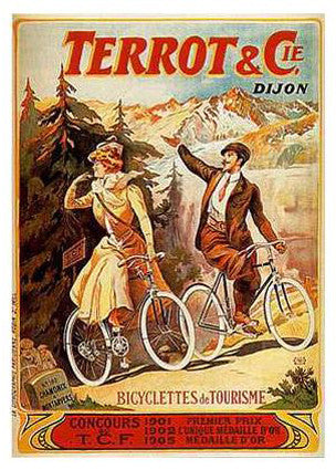 "Vintage Cycling Terrot and Co. ""Bicyclettes de Tourisme"" (c.1906) Poster Reprint - Clouets"