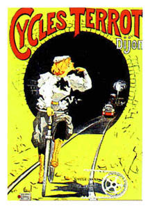 "Cycles Terrot ""Train"" (c.1901) - Clouet Vintage Reprints"