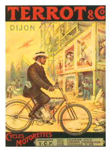 Terrot and Company Vintage Motorized Bicycle Poster