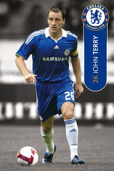 "John Terry ""The Captain"" Chelsea FC EPL Action Poster - GB Eye 2008"