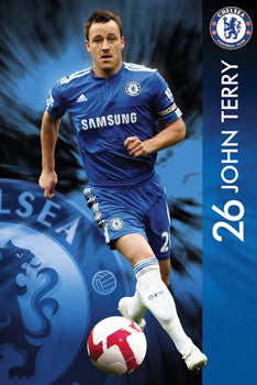 "John Terry ""Action 26"" Chelsea FC Poster - GB Eye 2009"