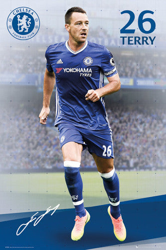 "John Terry ""Signature Series"" Chelsea FC Official EPL Soccer Football Poster - GB Eye 2016/17"