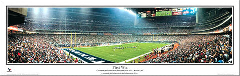 "Houston Texans ""First Win"" (2002) Reliant Stadium Panoramic Poster Print - Everlasting Images"