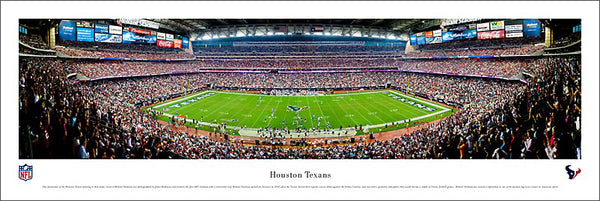 Houston Texans Reliant Stadium Game Night Panoramic Poster Print - Blakeway