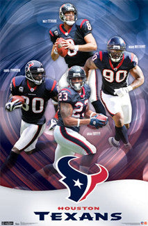 "Houston Texans ""Superstars"" Poster - Costacos Sports 2011"
