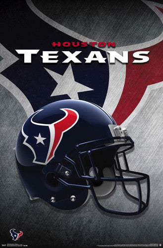 Houston Texans Official NFL Football Team Helmet Logo Poster - Trends International