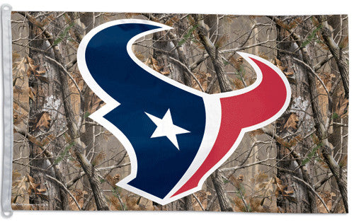 Houston Texans REALTREE Official NFL Football 3'x5' Flag - Wincraft Inc.