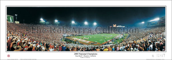 "Texas Longhorns Football ""2005 National Champions"" Rose Bowl Panoramic Poster Print by Rob Arra"