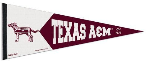 Texas A&M Aggies NCAA College Vault 1950s-Style Premium Felt Collector's Pennant - Wincraft Inc.