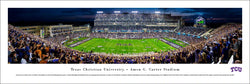 Texas Christian University TCU Horned Frogs Football Game Night Panoramic Poster Print - Blakeway