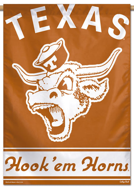 Texas Longhorns NCAA College Vault Series 1960s-Style Official NCAA Premium 28x40 Wall Banner - Wincraft Inc.