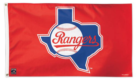 Texas Rangers 1980s-Style Cooperstown Collection MLB Baseball Deluxe-Edition 3'x5' Flag - Wincraft