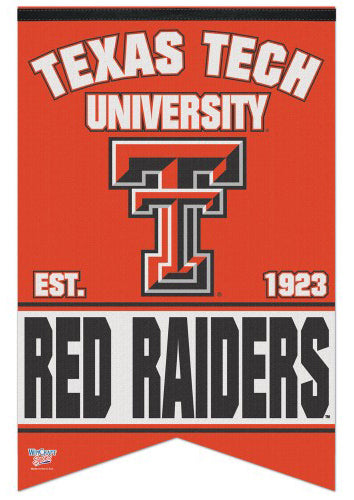 Texas Tech Red Raiders Est. 1923 NCAA Team Premium Felt Banner - Wincraft Inc.