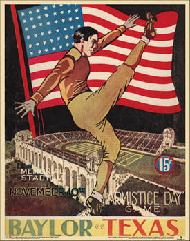 Texas Longhorns Football 1934 Vintage Program Cover Reprint