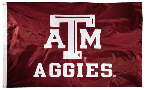 Texas A&M Aggies Official NCAA Premium Nylon Applique 3'x5' Flag - BSI Products Inc.
