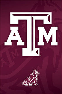 Texas A&M Aggies Official NCAA Team Logo Poster - Costacos Sports