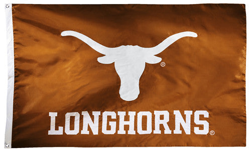 Texas Longhorns Official NCAA Premium Nylon Applique 3'x5' Flag - BSI Products Inc.