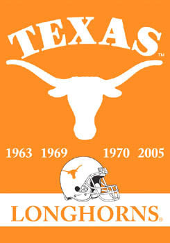 "Texas Longhorns ""4-Time Football Champs"" Banner - BSI"