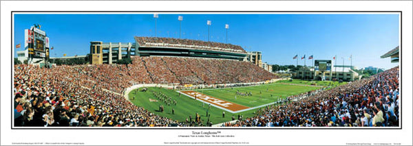 Texas Longhorns Darrell K. Royal Memorial Stadium Gameday Panoramic Poster Print - E.I.