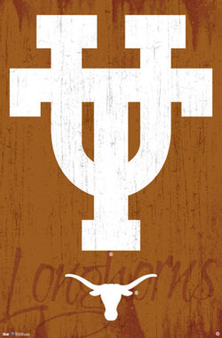 "University of Texas Longhorns ""UT Classic"" Official NCAA Logo Poster - Costacos 2013"