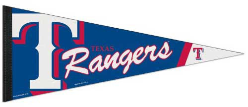 Texas Rangers Official MLB Baseball Premium Felt Collector's Pennant - Wincraft