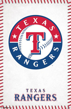 Texas Rangers Official MLB Baseball Team Logo Poster - Trends International
