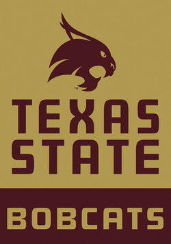 "Texas State Bobcats ""Gold"" Official 28x40 NCAA Premium Team Banner - BSI Products"
