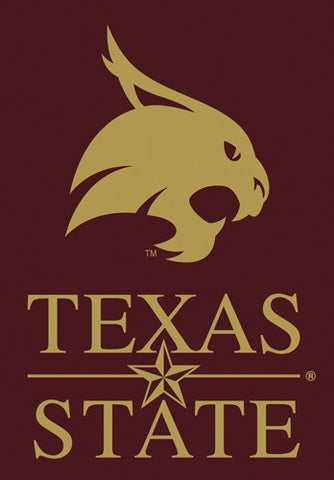 "Texas State Bobcats ""Maroon"" Official 28x40 NCAA Premium Team Banner - BSI Products"