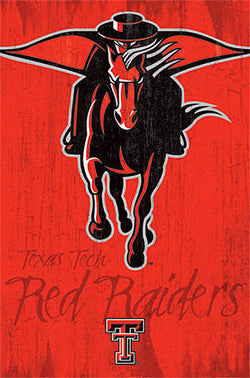 "Texas Tech Red Riders ""Raider Red"" Official NCAA Team Logo Poster - Costacos Sports"