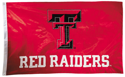 Texas Tech Red Raiders Official NCAA Premium Nylon Applique 3'x5' Flag - BSI Products Inc.