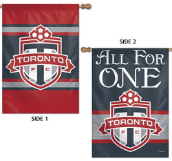 "Toronto FC TFC ""All For One"" Official MLS Soccer Team 2-Sided Wall BANNER - Wincraft Inc."