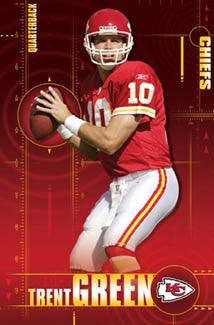 "Trent Green ""Quarterback"" Kansas City Chiefs Poster - Costacos 2005"