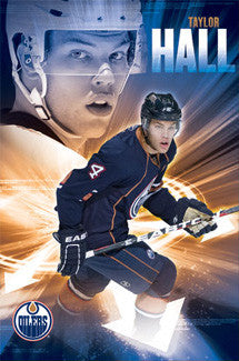 "Taylor Hall ""Blast Off"" Edmonton Oilers Poster - Costacos Sports"