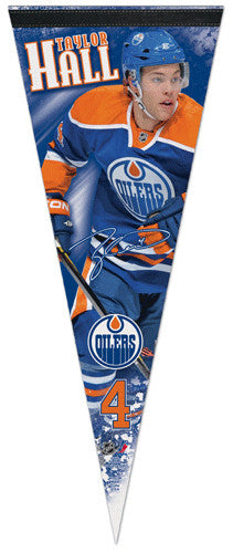 "Taylor Hall ""Signature Series"" Edmonton Oilers Premium Felt Collector's Pennant - Wincraft"