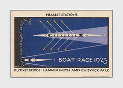 The Boat Race Rowing on the Thames Classic 1923 London Tube Poster Reprint - Transport London (UK)