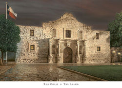 The Alamo Premium Art Poster Print by Rod Chase - Americana Series
