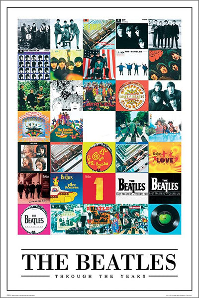 The Beatles Through the Years (20+ Album Covers) Official Music Poster - GB Eye (UK)