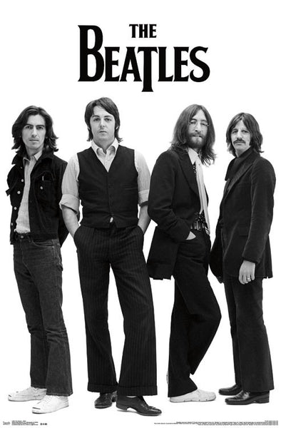 The Beatles White Album Group Shot (1968) Classic Rock Music Legends Poster - Trends Int'l.