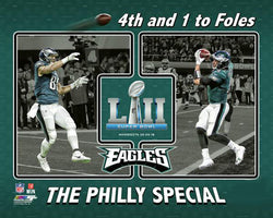 "Trey Burton to Nick Foles ""The Philly Special"" Super Bowl LII TD Philadelphia Eagles Premium Poster - Photofile 16x20"
