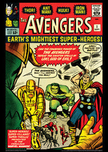 The Avengers #1 (1963) Marvel Comics Vintage Cover Poster Print - Asgard Press