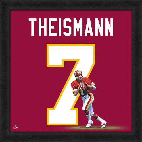 "Joe Theismann ""Number 7"" Washington Redskins FRAMED 20x20 UNIFRAME PRINT - Photofile"