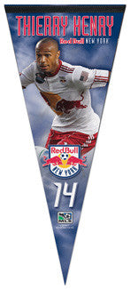 "Thierry Henry ""Action"" MLS Premium Felt Pennant - Wincraft 2010"
