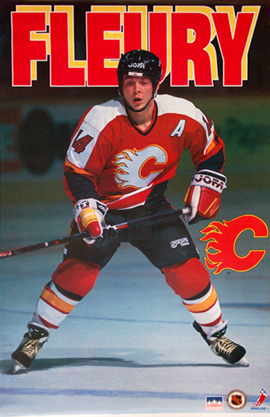 "Theoren Fleury ""Action"" Calgary Flames NHL Action Poster - Starline Inc. 1995"