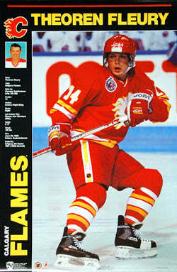"Theoren Fleury ""Classic Profile"" Calgary Flames NHL Action Poster- Norman James 1991"