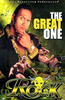 "The Rock ""The Great One"" WWE Wrestling Poster - Funky Enterprises 2000"