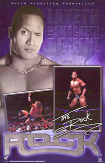 "The Rock ""Layeth the Smacketh Down!"" WWE Wrestling Poster - Funky 2000"